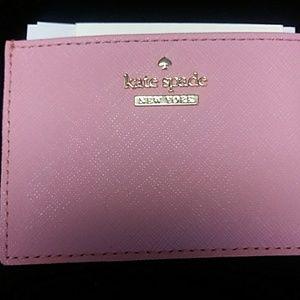 New Ladies Kate Spade Pink Card Case